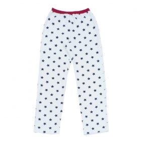 PETIT BATEAU Long Sleeve plush pajama set with red print